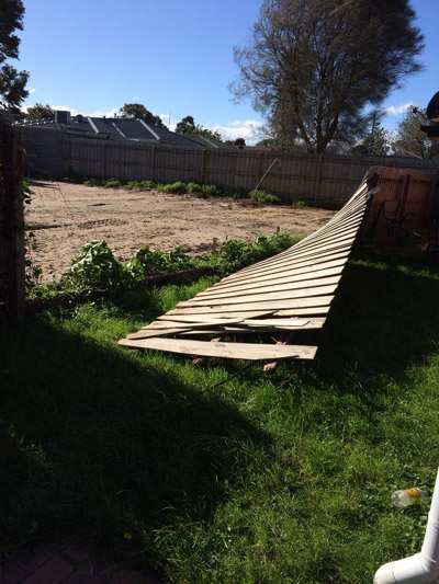 Repair Storm Damaged Fence in Melbourne